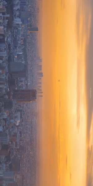唯美城市日出风景图片