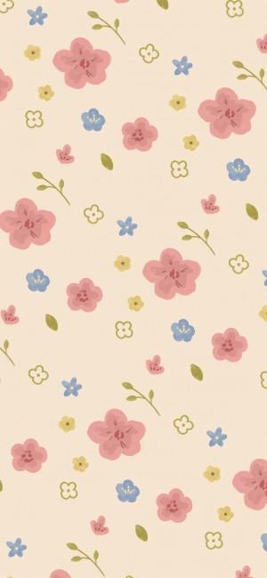 小碎花背景清新可爱手机壁纸