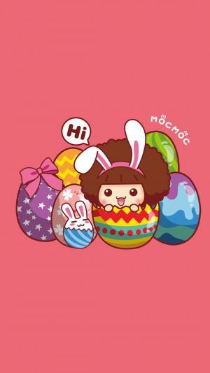 摩丝摩丝娃娃复活节彩蛋