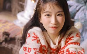 温暖清纯少女圣诞写真