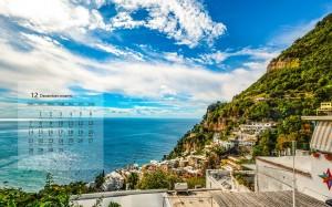 2020年12月意大利优美自然风景日历壁纸
