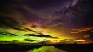 新西兰南极星空唯美图片