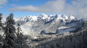壯觀唯美的雪山風景桌面壁紙