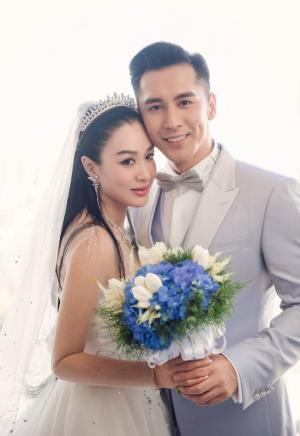 钟丽缇张伦硕婚礼婚纱照写真图片