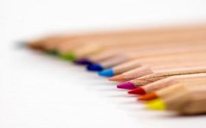 五颜六色的铅笔简约特写