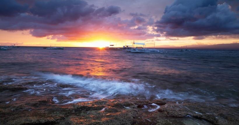 唯美海岸线自然风光