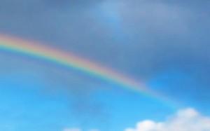 风光小清新风雨后的彩虹桌面壁纸图片