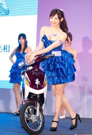 台湾机车展会女郎美图
