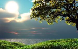 雨后太阳冲出乌云包围,让阳光重新洒满大地