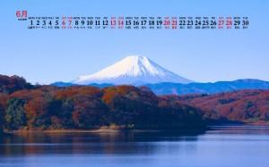 2020年6月富士山壮丽美景日历壁纸