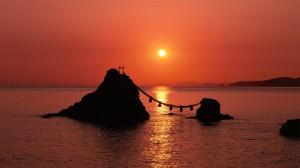 日本黄昏黎明优美景色高清桌面壁纸