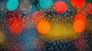 玻璃上水滴創意唯美高清圖片壁紙