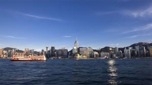 香港维多利亚港繁华风景高清桌面壁纸