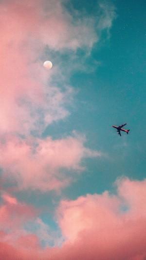 飞机上的视角唯美风景手机壁纸