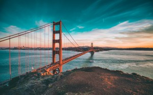 梦幻壮观的旧金山大桥美景