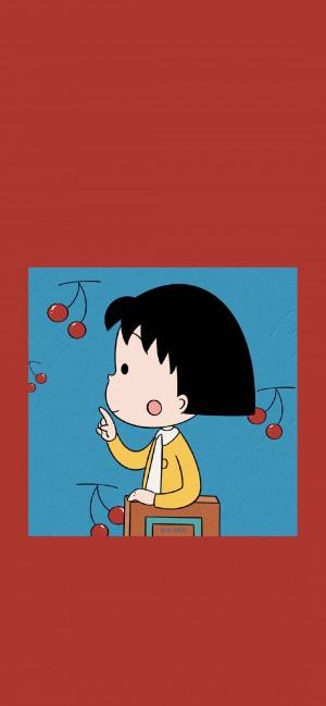 樱桃小丸子卡通萌系高清手机壁纸