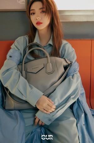 李紫婷衬衫连体裤时尚写真图片