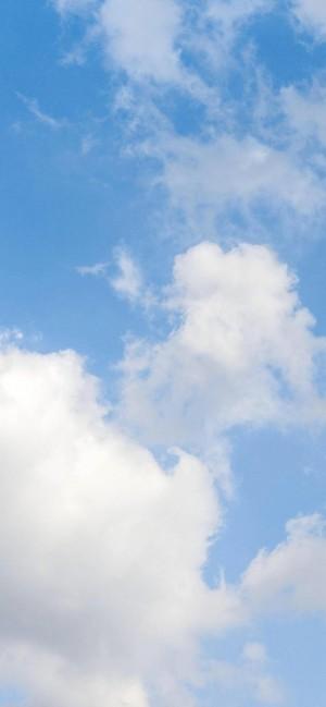 蓝天白云透亮天空高清手机壁纸