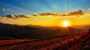 宁静的夕阳落日高清桌面壁纸