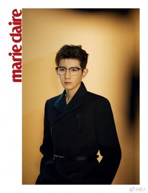 王源金丝眼镜温柔坚毅写真图片