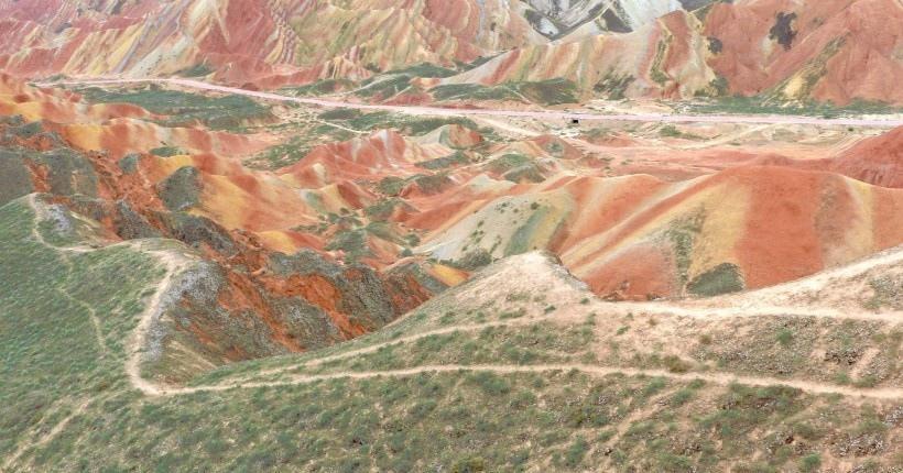 张掖丹霞地质公园风景图片