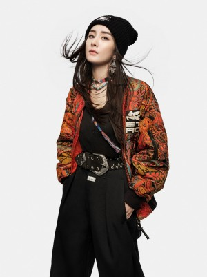 杨幂酷帅个性时尚写真图片