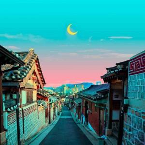 唯美创意浪漫城市渲染风景图片