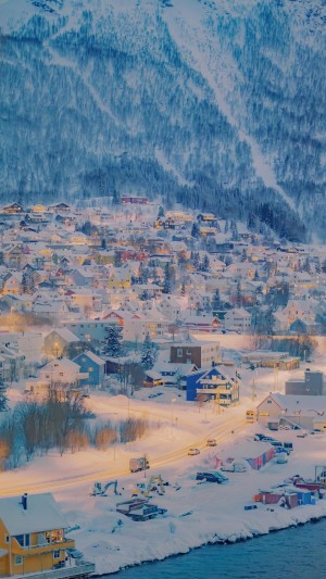 冬日小镇唯美风光