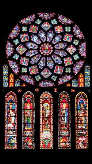 巴黎圣母院玻璃花窗