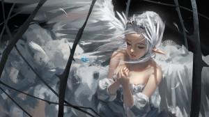 鬼刀原画高清冰公主壁纸图片