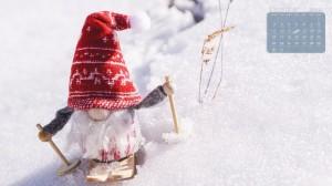 2019年12月冬季唯美意境日历