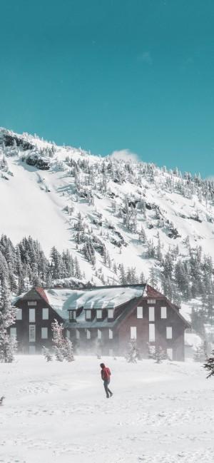冬日严寒雪景高清手机壁纸