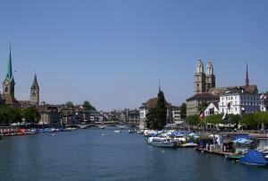 瑞士浪漫苏黎世城市建筑风景图片