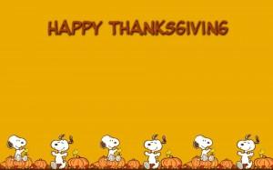 可爱史努比祝大家感恩节快乐