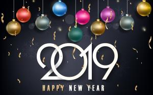 2019新年快乐创意艺术字