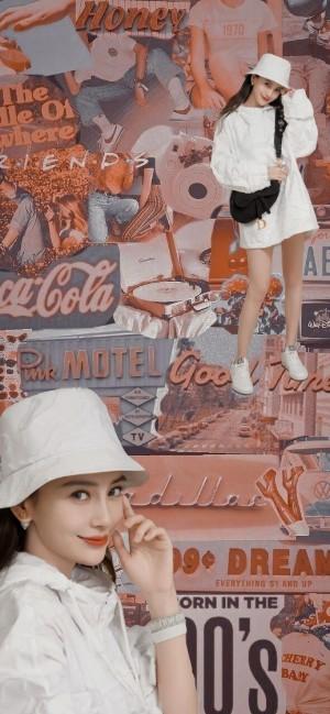 angelababy杨颖潮流拼接手机壁纸