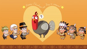 感恩节个性创意卡通壁纸图片