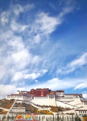 西藏布达拉宫壮观风景手机壁纸