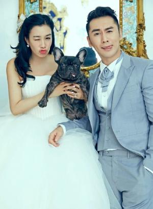 钟丽缇张伦硕婚纱照大片摄影图片