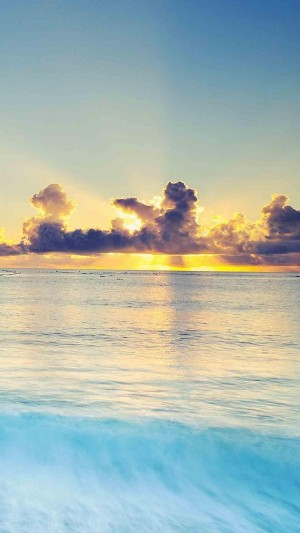 美到无法呼吸的海上日出