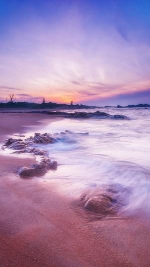 日落下的海景奇妙景观