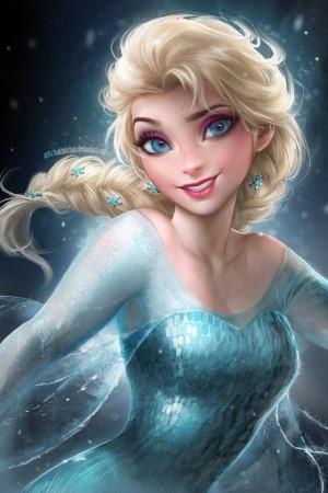 冰雪女王艾莎手绘壁纸图片