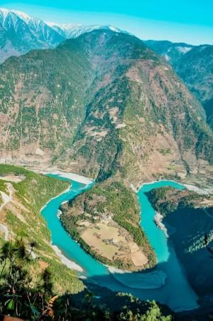 怒江大峡谷风景图片