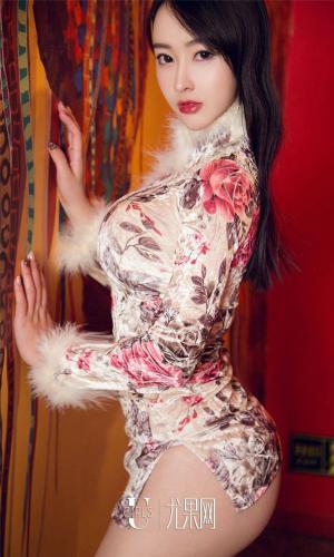 尤果网颜值爆表极品美女小欣欣冬装旗袍撩裙大胆私房写真图片