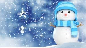 大雪节气可爱雪人高清图片壁纸
