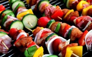 夏日里诱人的烤肉