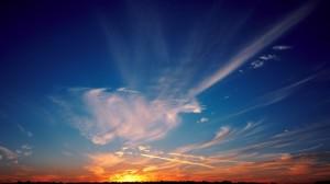 黄昏夕阳美景图片