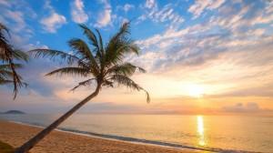 蔚蓝广阔海洋风景桌面壁纸