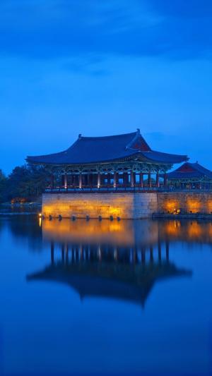 韩国新罗时代雁鸭池