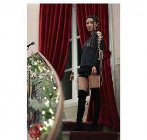 薛凱琪圣誕時尚溫柔寫真圖片